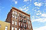 Apartment block, Brooklyn, New York, USA