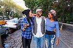 Friends on sidewalk