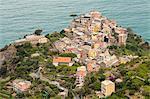 The village of Corniglia in the Cinque Terre, UNESCO World Heritage Site, Liguria, Italy, Europe