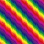 Multicolour ornamental seamless vector pattern like a rainbow