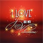 Valentine's day background with typography design