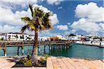 View to the new harbour, Marina Rubicon, Playa Blanca, Lanzarote, Las Palmas, Canary Islands