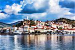 Greece, the port of Poros island - Impressionism effect