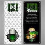 beer menu design for St.Patrick day
