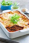 Vegetarian lasagne with lentils