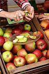 Idared apples in a crate