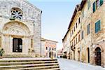 "Collegiate Church of San Quirico, San Quirico d""Orcia, Val d'Orcia, Siena, Tuscany, Italy"
