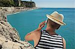 Teenager holiday summer relaxing hat headphones
