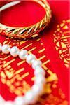 Close-up of Bridal Jewelry and Ang Pow, Studio Shot