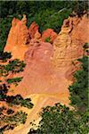 Ocher Breakage Cliffs in Summer, Colorado Provencal, Rustrel, Provence, Vaucluse, France