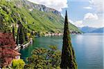 Botanical Garden at Villa Monastero above Lake Como, Province of Lecco, Lombardy, Italy