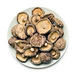 dried shiitake mushrooms on table