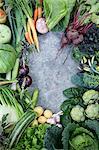 Various vegetables against concrete background