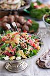 Fresh salad on table