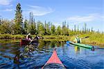 Men kayaking