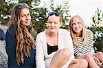 Teenage girls looking at camera