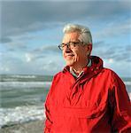 Senior man on beach