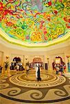 Painted Ceiling In Atlantis Palm Hotel; Jumeirah, Dubai, United Arab Emirates