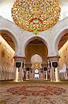 Inside the Sheikh Zayed Grand Mosque; Abu Dhabi, United Arab Emirates