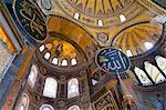 Interior of Hagia Sofia (Aya Sofia) in Sultanahmet area; Istanbul, Turkey