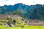 "South America, Peru, Cuzco region, Urubamba Province, Unesco World heritage since 1983, Machu Picchu (""old mountain""), global view, lansdcape"