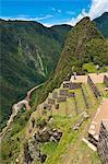 "South America, Peru, Cuzco region, Urubamba Province, Unesco World heritage since 1983, Machu Picchu (""old mountain""), global view"