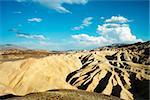 View of Zabriskie Point at the desert of Death Valley