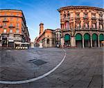 Piazza del Duomo and Via dei Mercanti in the Morning, Milan, Italy