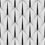Design seamless diamond geometric pattern. Abstract monochrome lines background. Vector art. No gradient