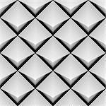 Design seamless monochrome diamond geometric pattern. Abstract striped textured background. Vector art. No gradient