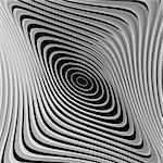 Design monochrome whirl ellipse motion background. Abstract striped distortion backdrop. Vector-art illustration. EPS10
