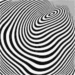 Design monochrome ellipse movement illusion background. Abstract stripe torsion texture. Vector-art illustration
