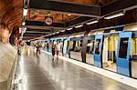 People at a T Bana metro station, Stockholm, Sweden, Scandinavia, Europe