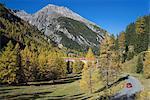 Road to Albula Pass, Graubunden, Swiss Alps, Switzerland, Europe