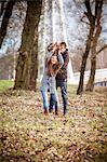 Couple in park, fooling around, Croatia
