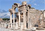 The temple of Hadrian, ancient town of Ephesus, Turkey