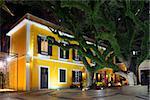 portuguese colonial architecture restaurant in st lazarus historic area of macau china
