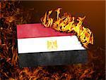 Flag burning - concept of war or crisis - Egypt