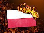 Flag burning - concept of war or crisis - Poland