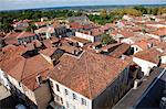 France, Aquitaine,  Landes (40), Saint Sever, overview