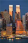 Midtown Manhattan across the Hudson River, New York, United States of America, North America