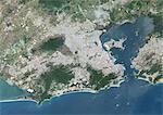 Colour satellite image of Rio de Janeiro, Brazil. Image taken on October 24, 2014 with Landsat 8 data.
