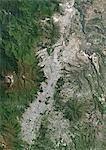 Colour satellite image of Quito, Ecuador. Image taken on June 21, 2013 with Landsat 8 data.
