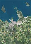 Colour satellite image of Tallinn, Estonia. Image taken on July 25, 2014 with Landsat 8 data.