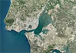 Colour satellite image of Lisbon, Portugal. Image taken on July 9, 2014 with Landsat 8 data.