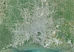 Colour satellite image of Bangkok, Thailand. Image taken on February 2, 2014 with Landsat 8 data.