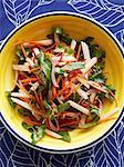 Still life with bowl of jicama salad