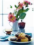 Still life with plate of Italian biscotti di esse