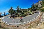 Road cyclists at Episkopi, Crete, Greece, Europe MR
