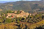 Italy, Italia. Tuscany, Toscana. Firenze district. Chianti. Montefioralle. Village near Greve in Chianti.